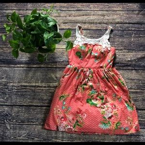 💗💗 City Triangles Orange Flower Mini Dress 💓💓